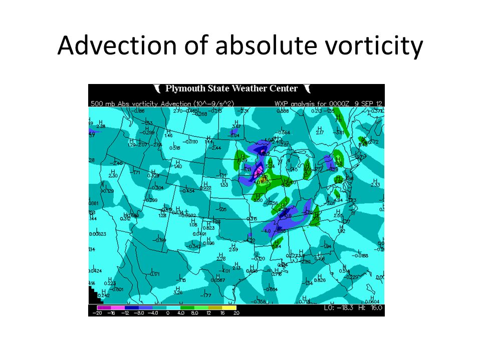 Advection of absolute vorticity