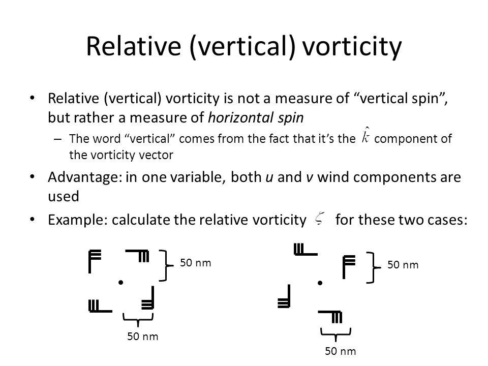 Relative (vertical) vorticity