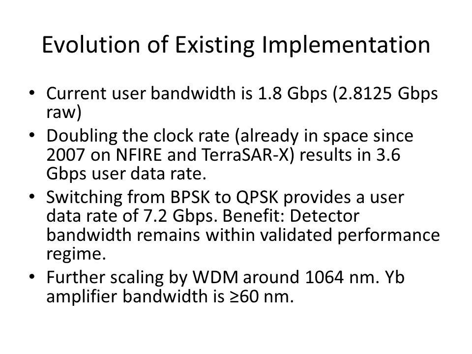 Evolution of Existing Implementation