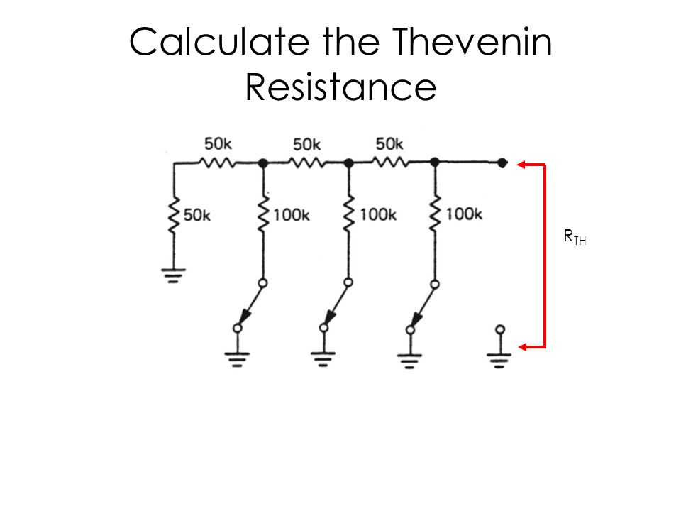 Calculate the Thevenin Resistance