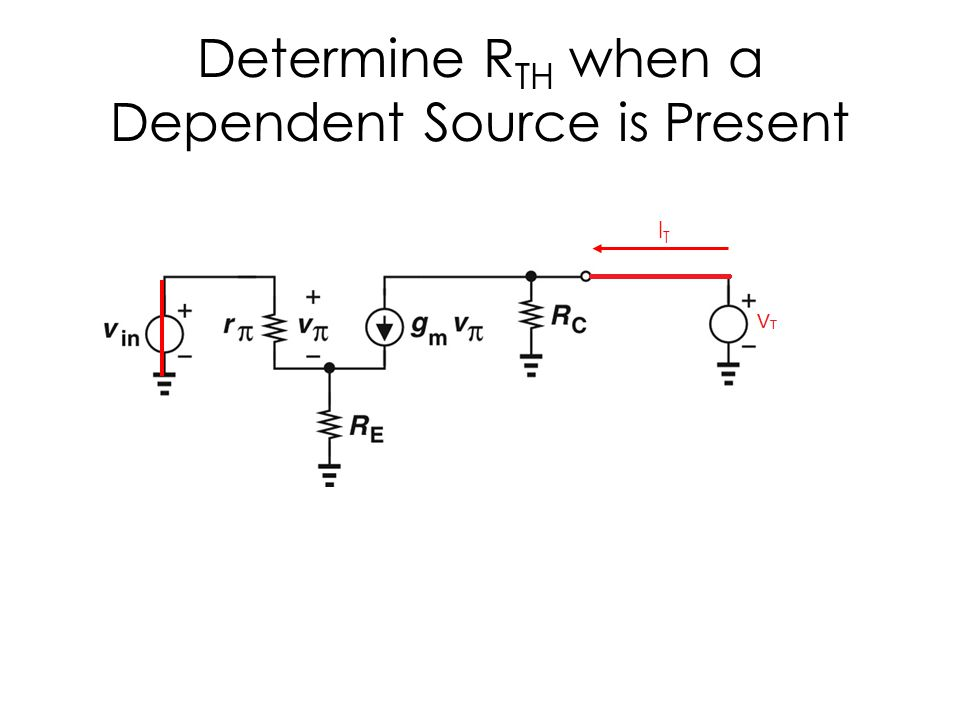 Determine RTH when a Dependent Source is Present