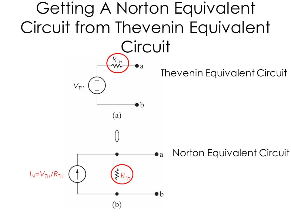 Getting A Norton Equivalent Circuit from Thevenin Equivalent Circuit