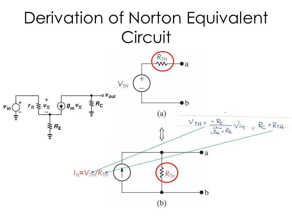 Derivation of Norton Equivalent Circuit