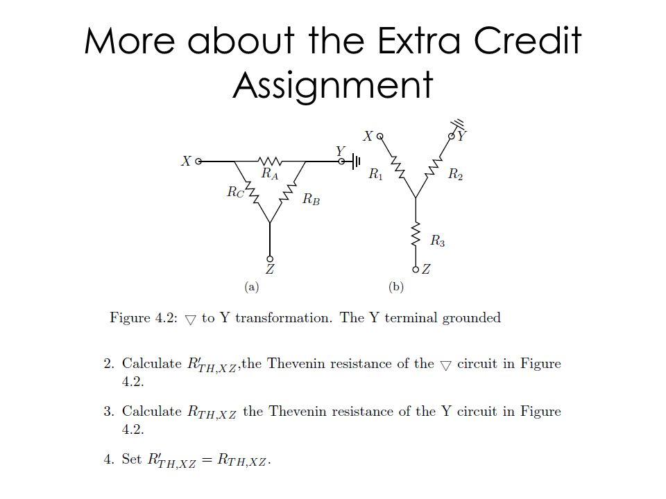 More about the Extra Credit Assignment