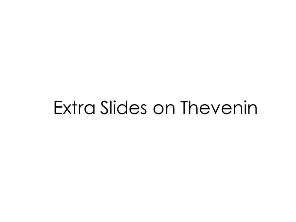 Extra Slides on Thevenin