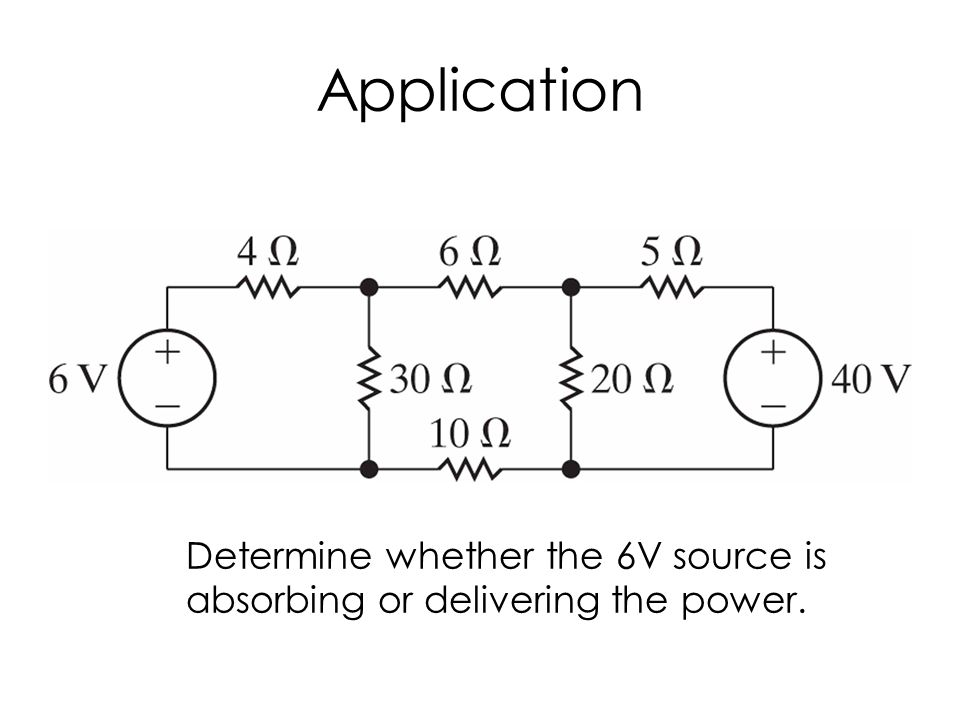 Application Determine whether the 6V source is