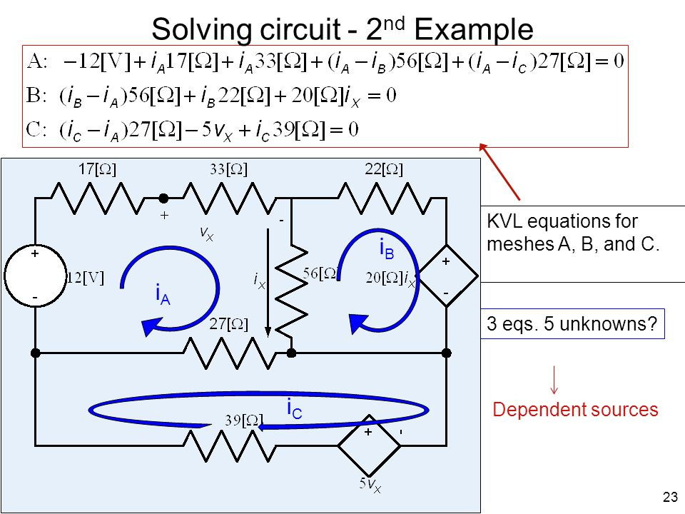 Solving circuit - 2nd Example