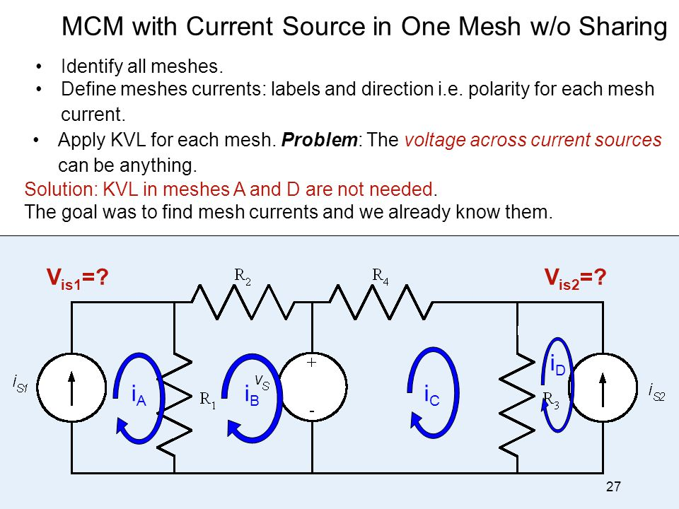 MCM with Current Source in One Mesh w/o Sharing