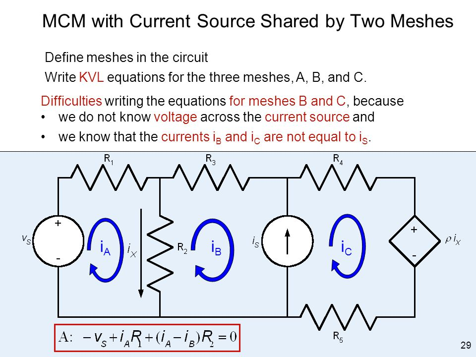 MCM with Current Source Shared by Two Meshes