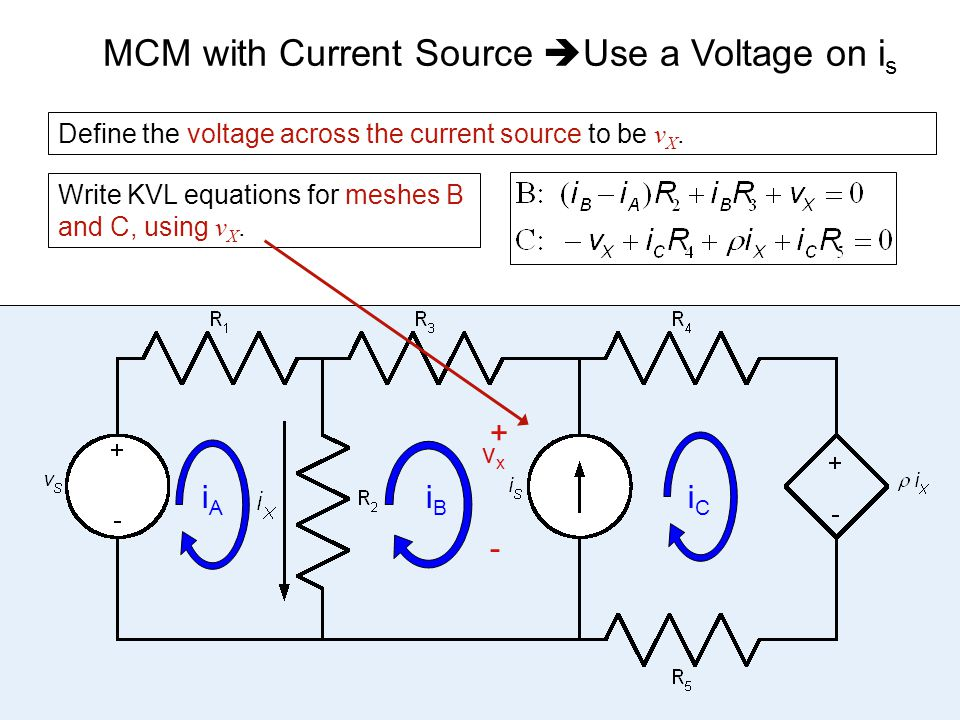 MCM with Current Source Use a Voltage on is