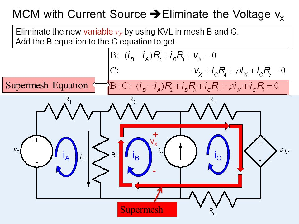 MCM with Current Source Eliminate the Voltage vx