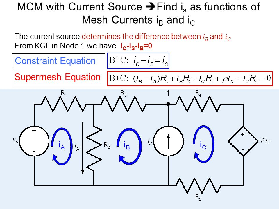 MCM with Current Source Find is as functions of