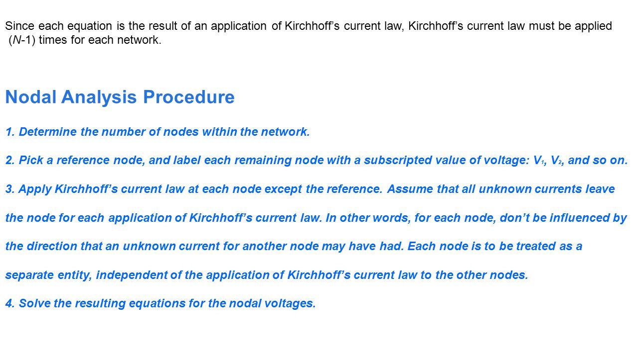 Nodal Analysis Procedure