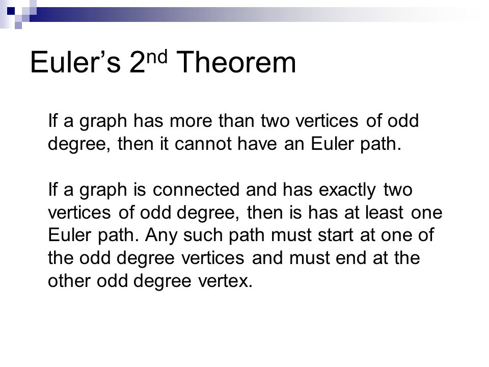 Euler's 2nd Theorem