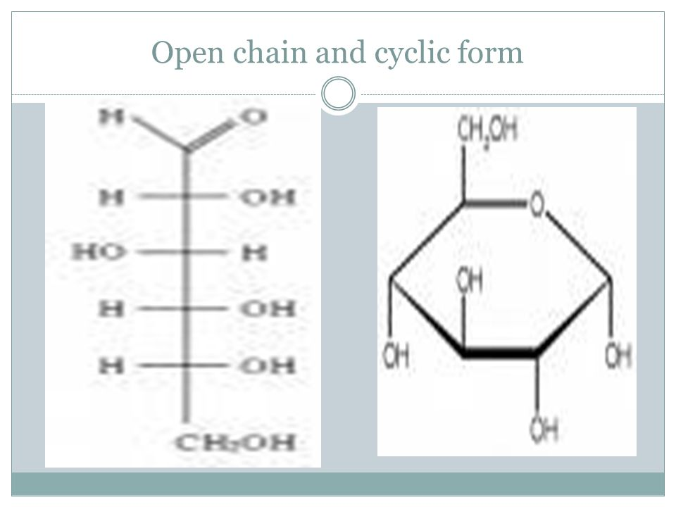 Open chain and cyclic form