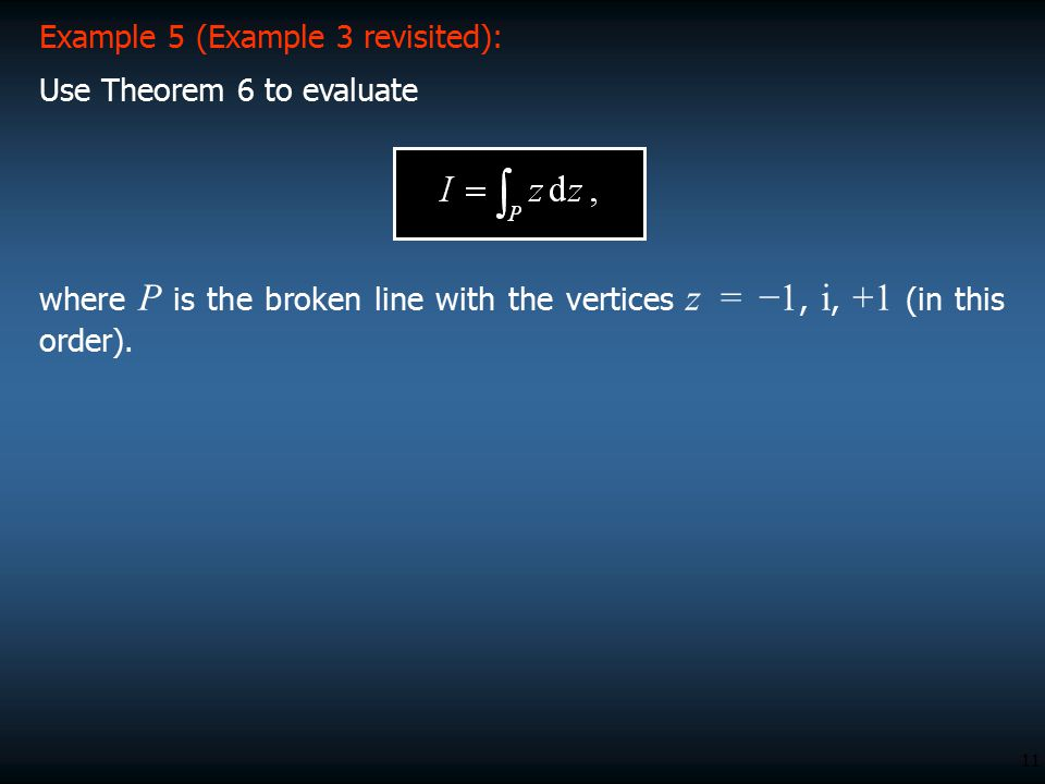 Example 5 (Example 3 revisited):