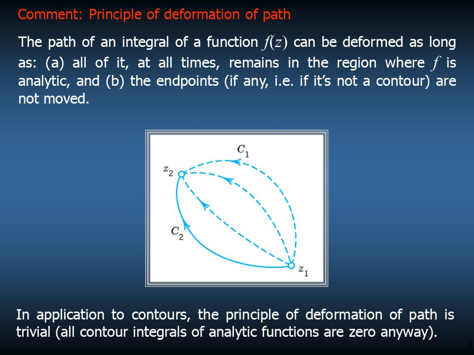 Comment: Principle of deformation of path