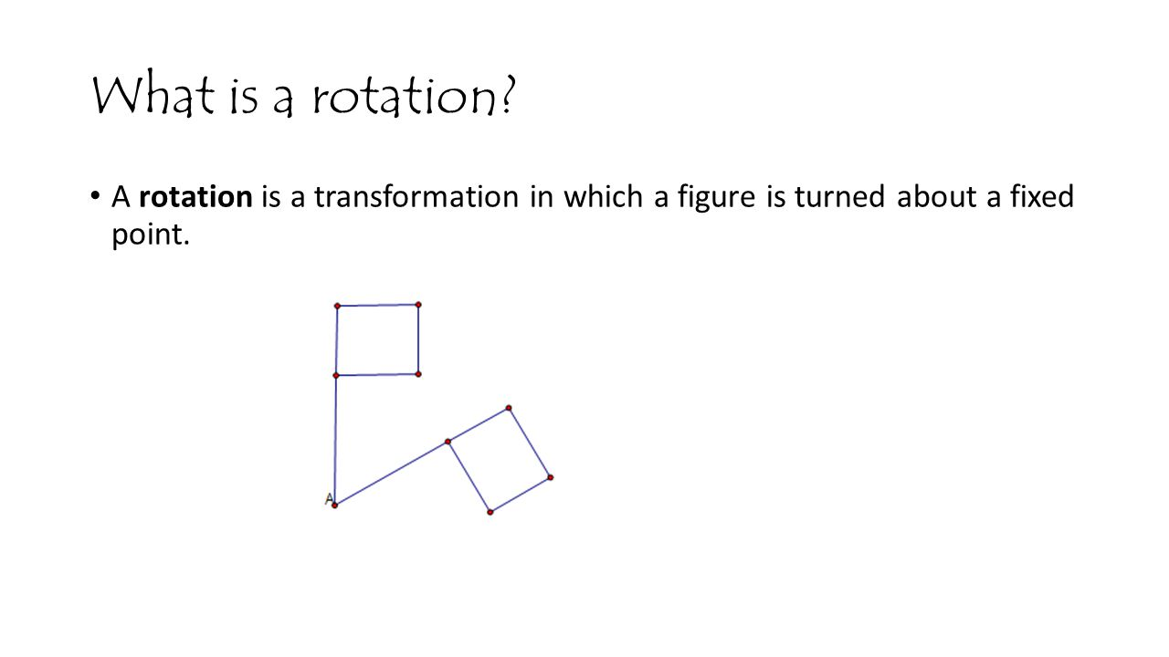 What is a rotation.