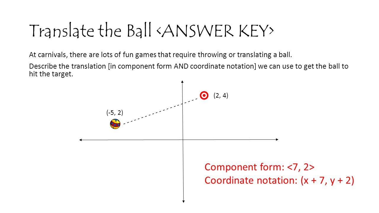 Translate the Ball <ANSWER KEY>