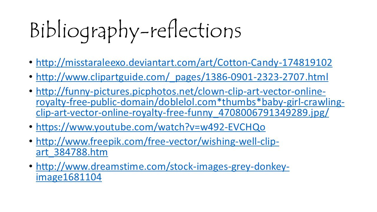 Bibliography-reflections