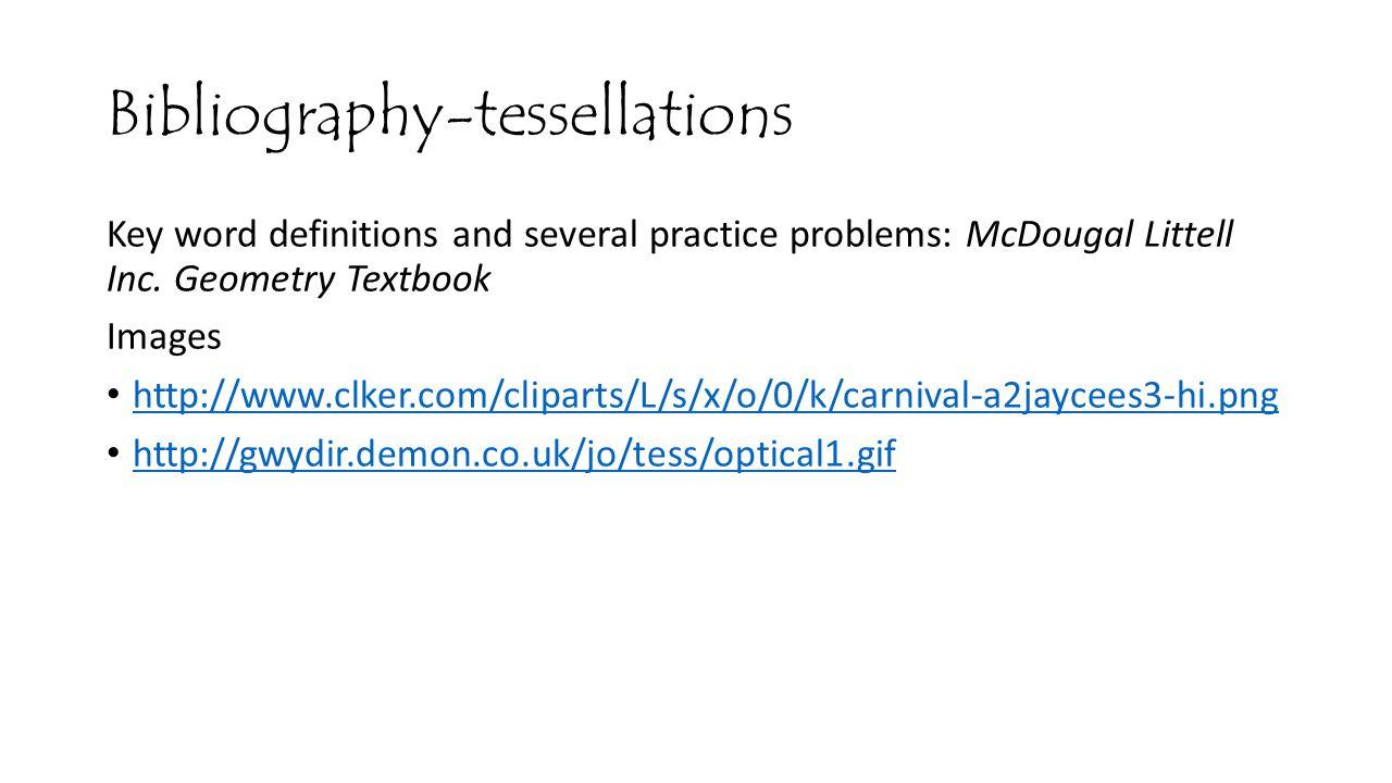 Bibliography-tessellations