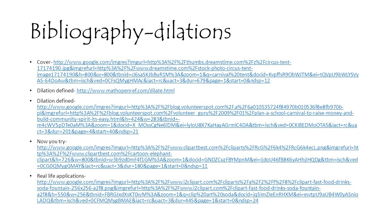 Bibliography-dilations