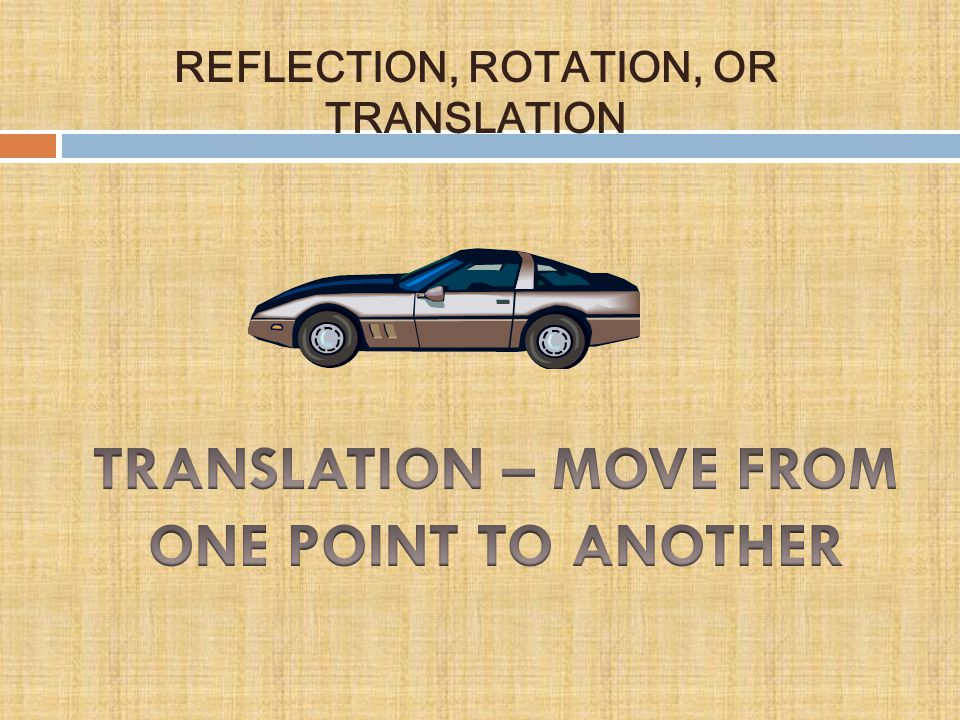 TRANSLATION – MOVE FROM ONE POINT TO ANOTHER