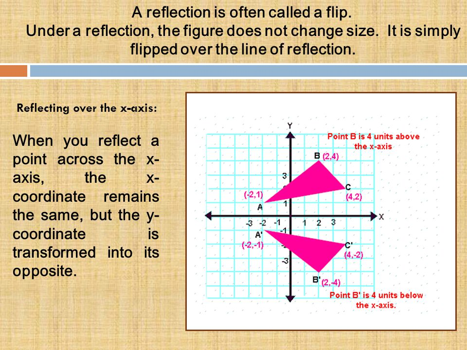A reflection is often called a flip