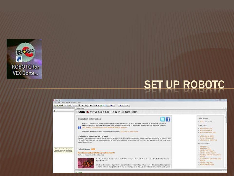 Set Up Robotc