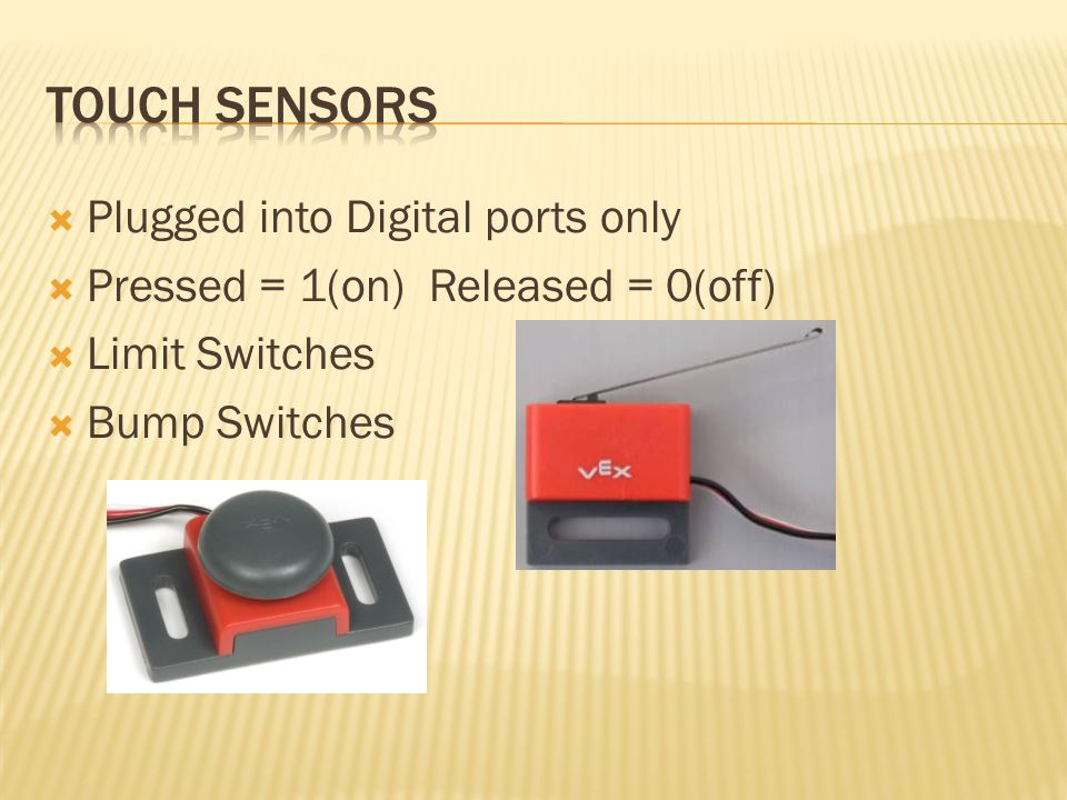 Touch Sensors Plugged into Digital ports only