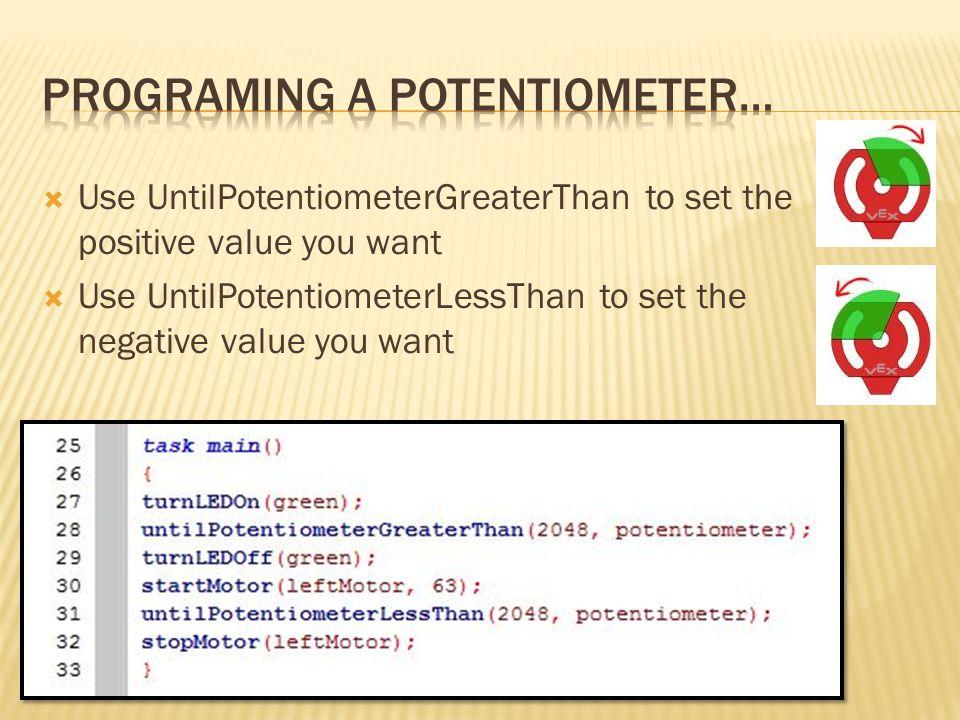 Programing a potentiometer…