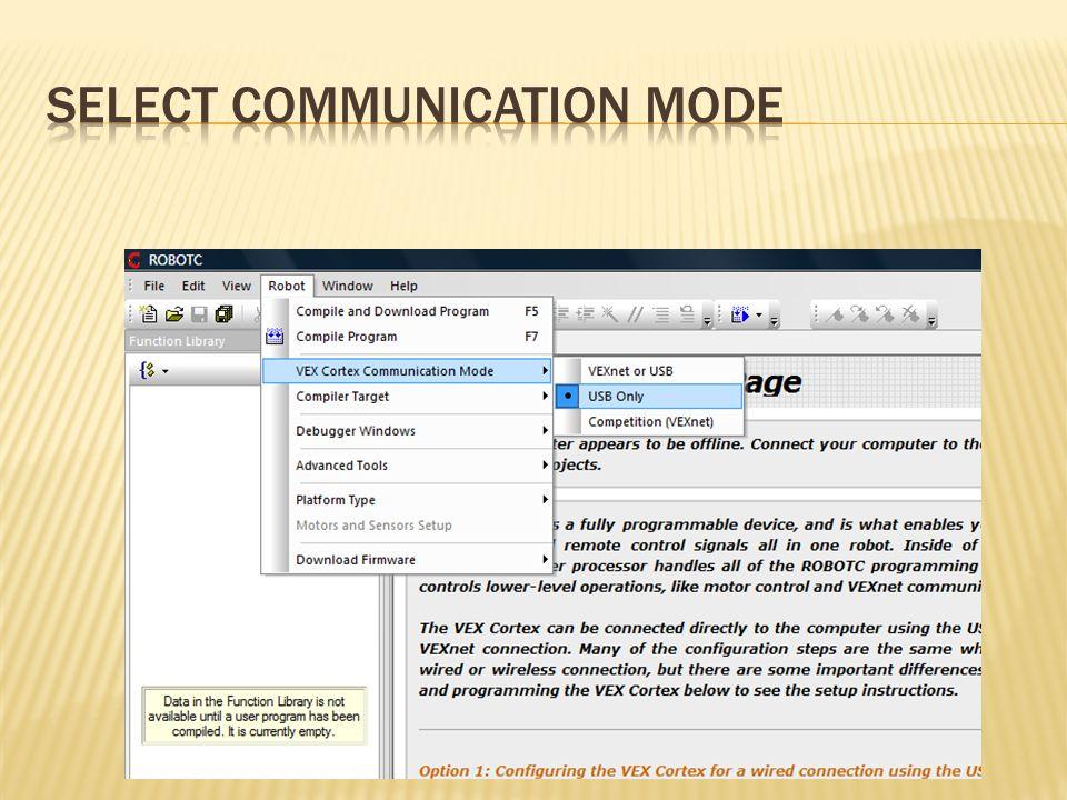 Select Communication Mode