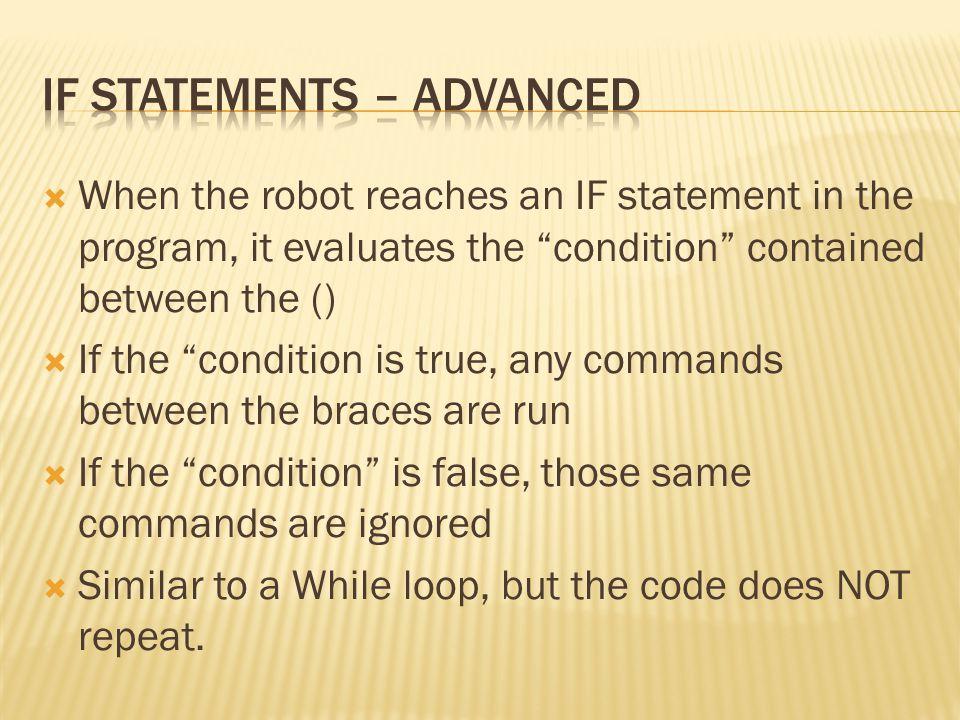 If Statements – Advanced