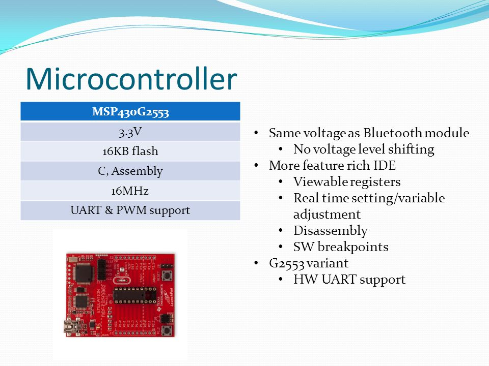 Microcontroller Same voltage as Bluetooth module