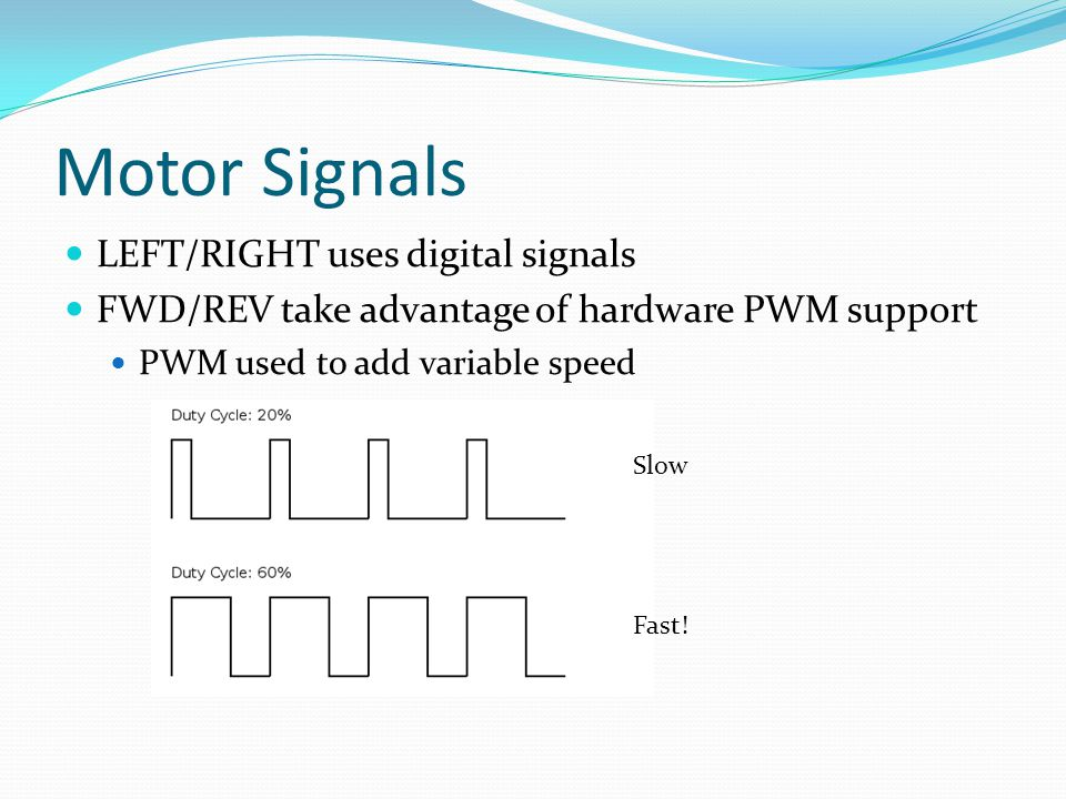 Motor Signals LEFT/RIGHT uses digital signals