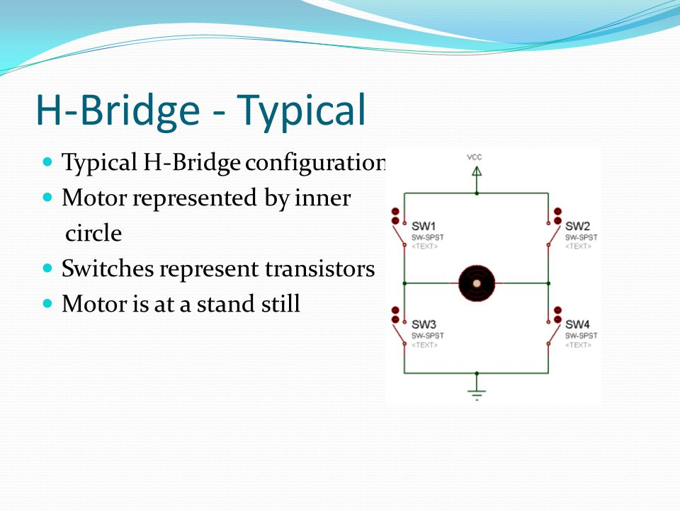 H-Bridge - Typical Typical H-Bridge configuration