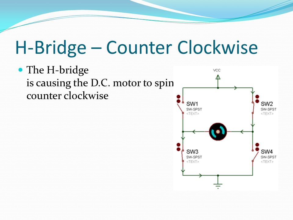H-Bridge – Counter Clockwise