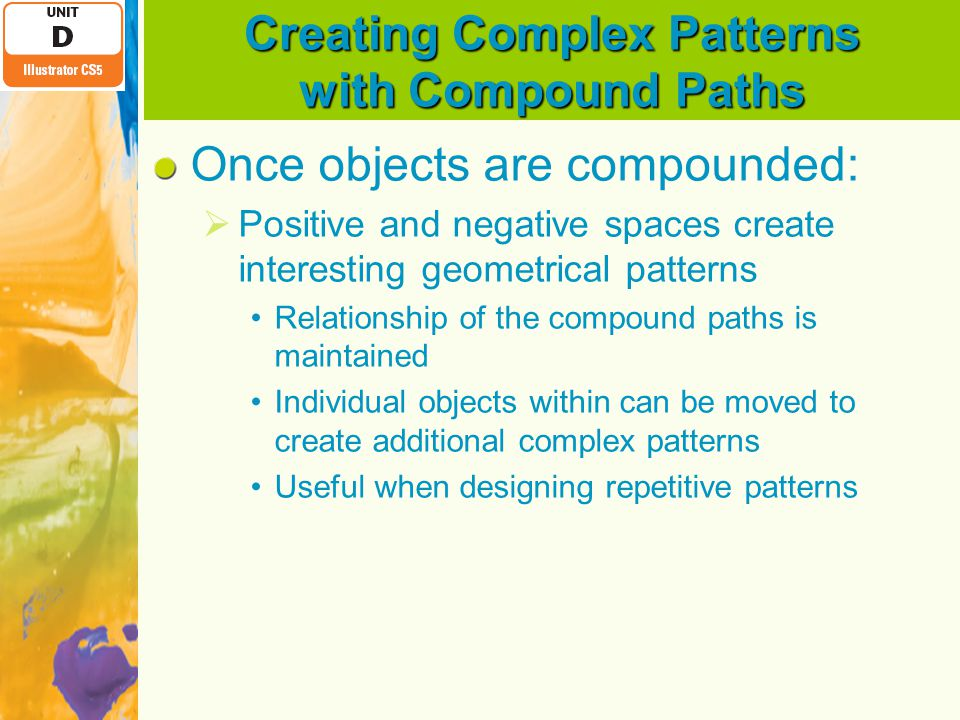 Creating Complex Patterns with Compound Paths