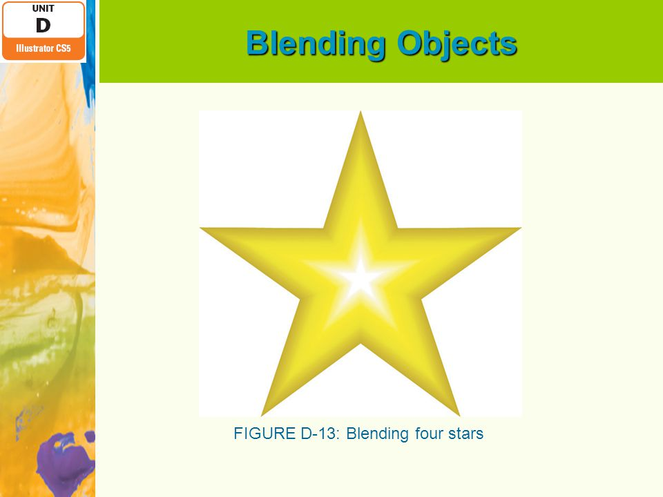Blending Objects FIGURE D-13: Blending four stars