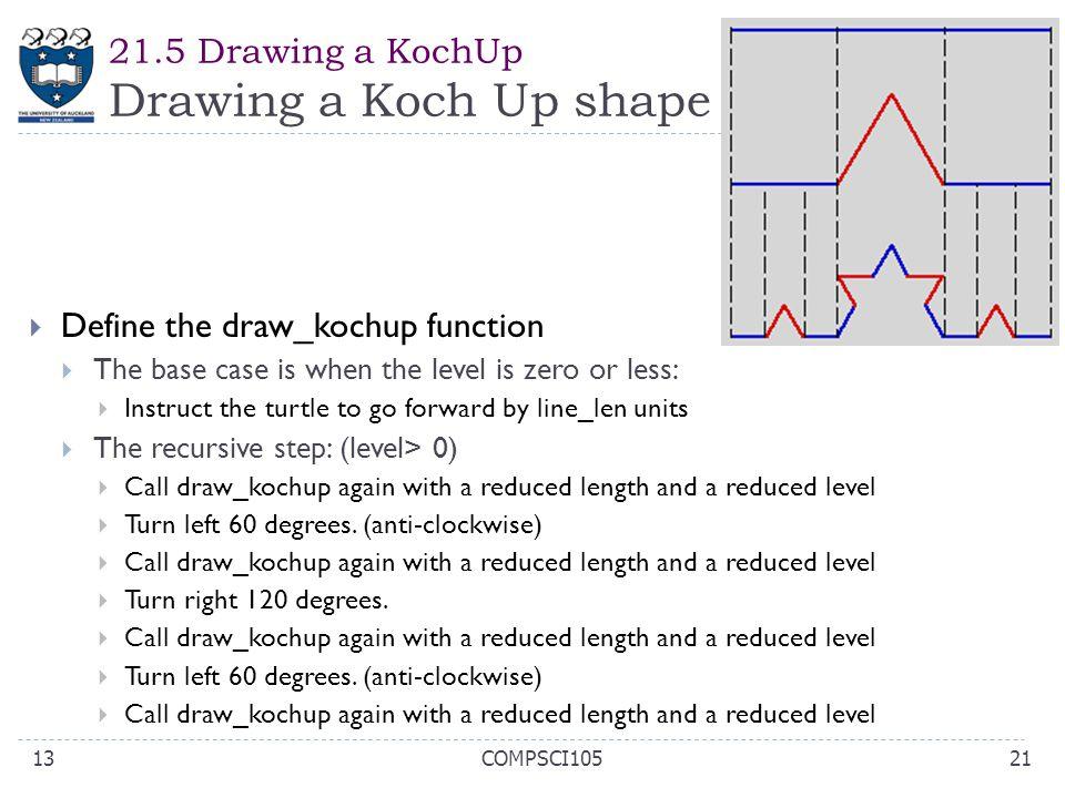 21.5 Drawing a KochUp Drawing a Koch Up shape
