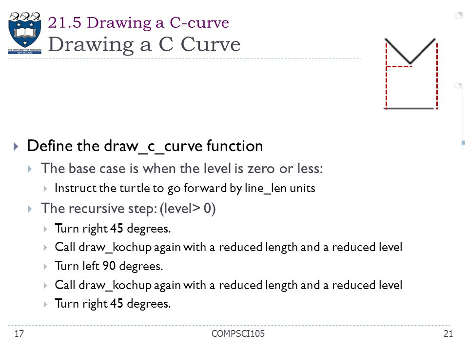 21.5 Drawing a C-curve Drawing a C Curve