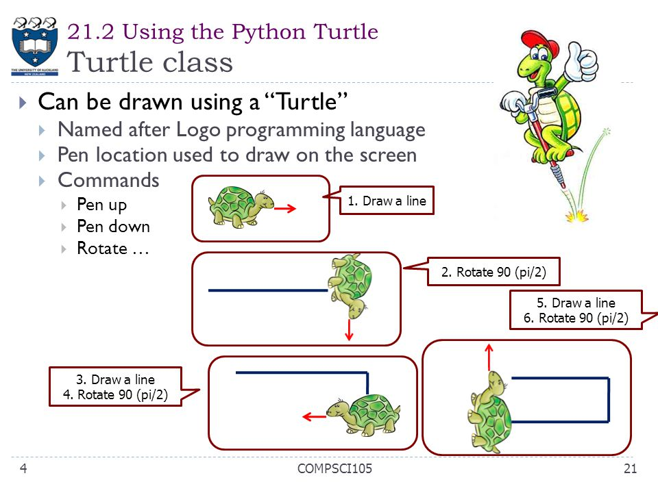 21.2 Using the Python Turtle Turtle class