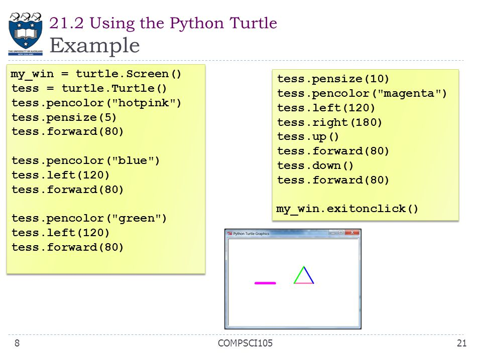 21.2 Using the Python Turtle Example