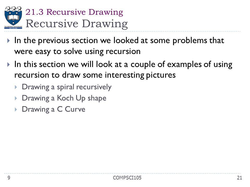 21.3 Recursive Drawing Recursive Drawing