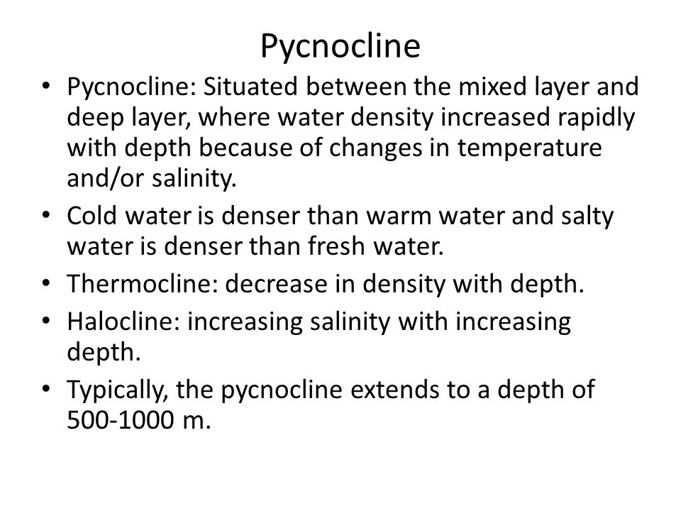 Pycnocline