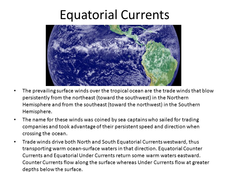 Equatorial Currents