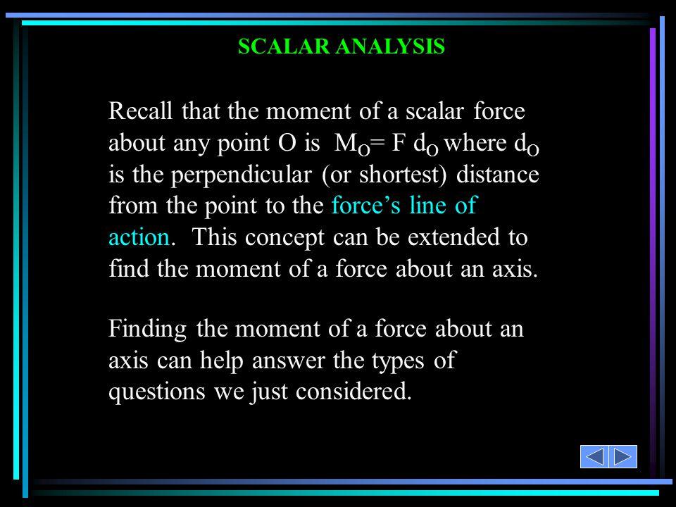 SCALAR ANALYSIS