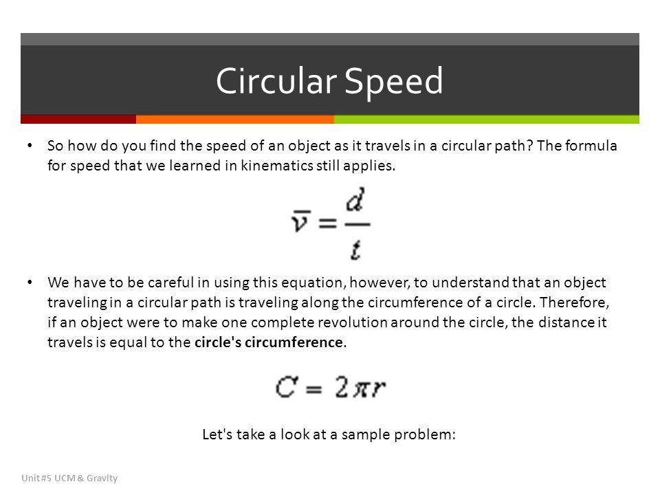 Circular Speed
