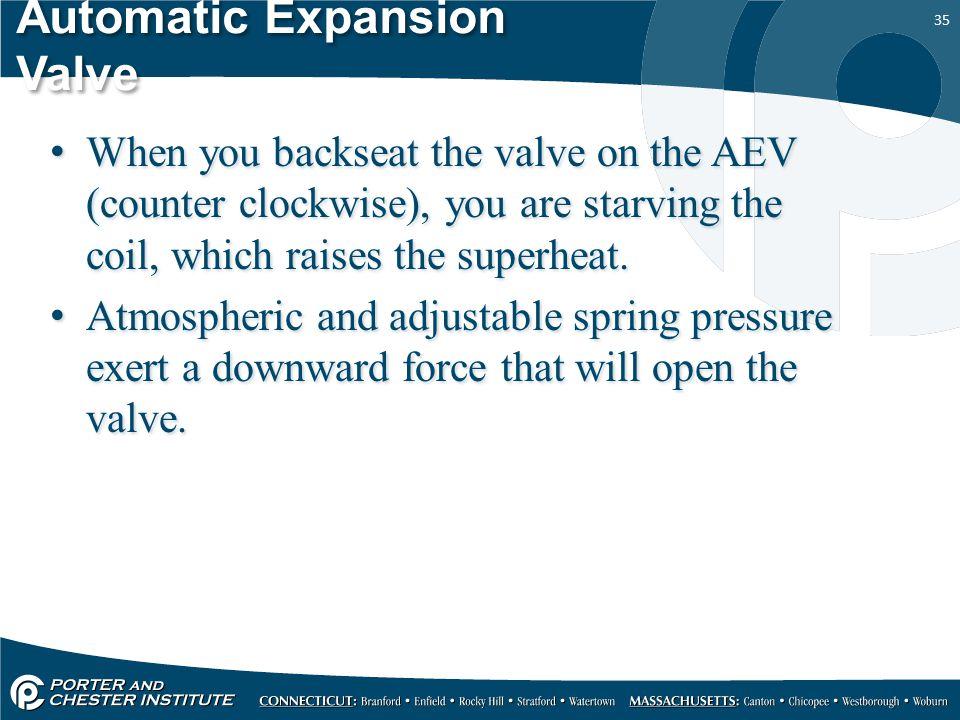 Automatic Expansion Valve