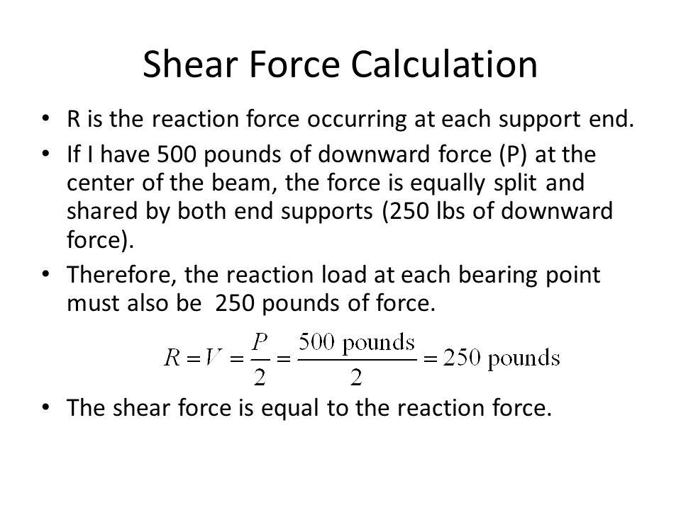 Shear Force Calculation